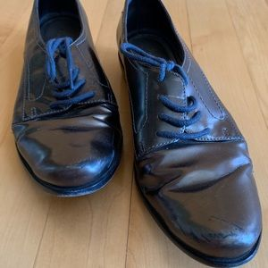 Pour la Victoire metallic leather oxfords sz6